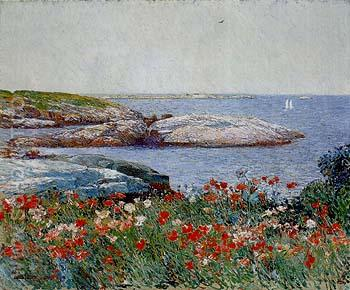 Poppies Isles of Shoals 1891 - Childe Hassam reproduction oil painting