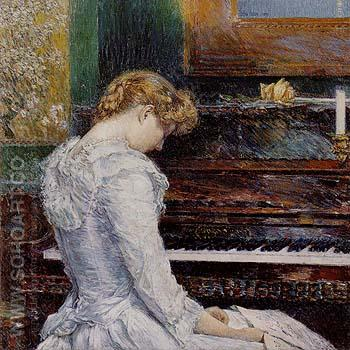 The Sonata 1893 - Childe Hassam reproduction oil painting