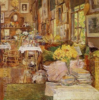 The Room of Flowers 1894 - Childe Hassam reproduction oil painting