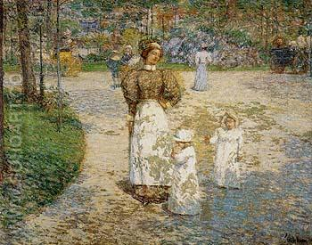 Spring in Cantral Park Springtim 1898 - Childe Hassam reproduction oil painting