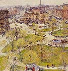 Union Square in Spring 1896 - Childe Hassam reproduction oil painting