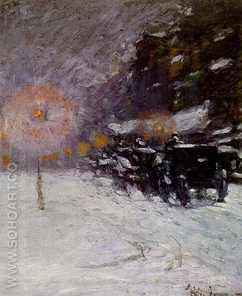Winter Midnight 1894 - Childe Hassam reproduction oil painting