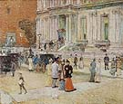 The Manhattan Club The Stewart Mansion 1891 - Childe Hassam reproduction oil painting