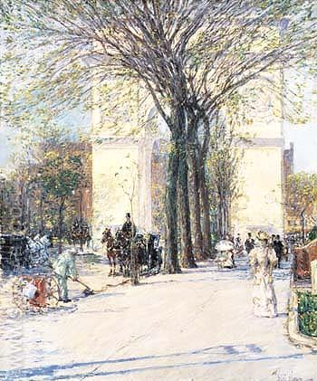 Washington Arch Spring 1893 - Childe Hassam reproduction oil painting