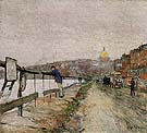Charles River and Beacon Hill 1892 - Childe Hassam reproduction oil painting