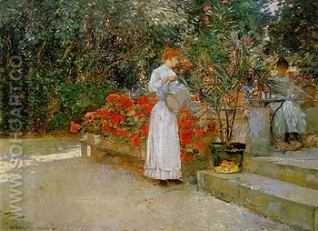 After Breakfast 1887 - Childe Hassam reproduction oil painting