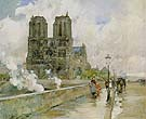Notre Dame Cathedral Paris 1888 - Childe Hassam reproduction oil painting