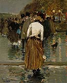 Promenade at Sunset Paris 1888 - Childe Hassam reproduction oil painting