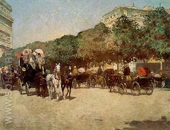 Grand Prix Day 1887 - Childe Hassam reproduction oil painting