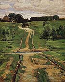 A Back Road 1884 - Childe Hassam reproduction oil painting