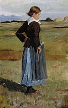French Peasant Girl 1883 - Childe Hassam reproduction oil painting