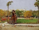 In the Park 1889 - Childe Hassam reproduction oil painting