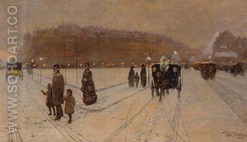 A City Fairyland 1886 - Childe Hassam reproduction oil painting