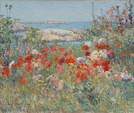 Celia Thaxter's Garden, Isles of Shoals, Maine - Childe Hassam reproduction oil painting