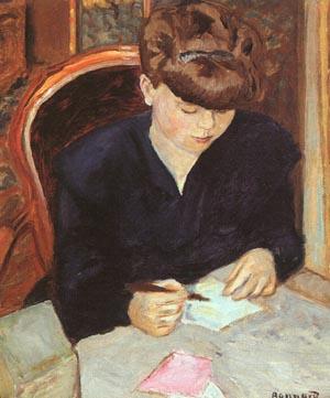 The Letter - Pierre Bonnard reproduction oil painting
