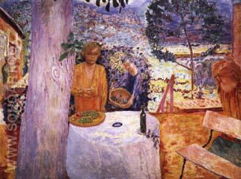 The Terrace at Vernonnet - Pierre Bonnard reproduction oil painting