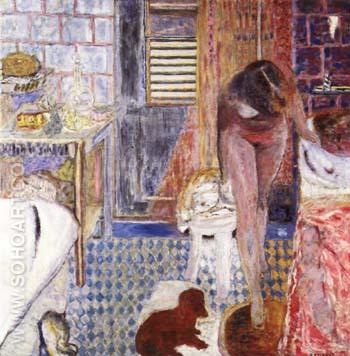 Nude in Bathroom 1932 - Pierre Bonnard reproduction oil painting