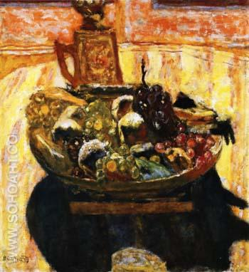 Still Life with Bowl of Fruit 1933 - Pierre Bonnard reproduction oil painting