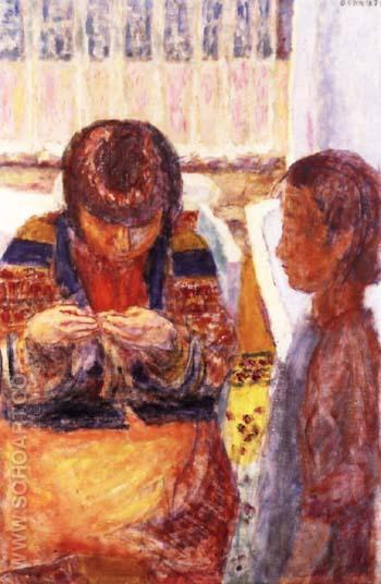The Lesson - Pierre Bonnard reproduction oil painting