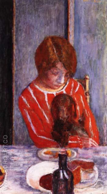 Woman with Dog 1922 - Pierre Bonnard reproduction oil painting