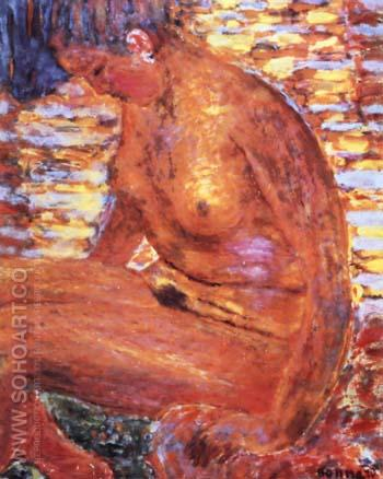 Dark Nude 1939 - Pierre Bonnard reproduction oil painting