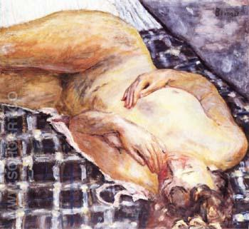 Reclining Nude 1909 - Pierre Bonnard reproduction oil painting