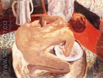 Woman Bathing 1912 - Pierre Bonnard reproduction oil painting