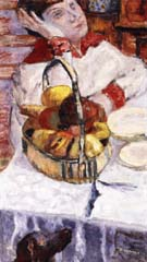Woman with Basket of Fruit 1915 - Pierre Bonnard reproduction oil painting