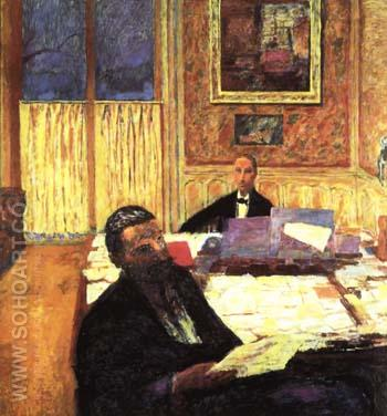Josse Bernheim-Jeune and Gaston - Pierre Bonnard reproduction oil painting