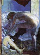 Large Nude in Blue 1924 - Pierre Bonnard reproduction oil painting