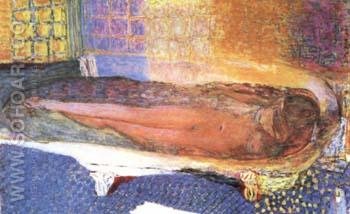 Nude in the Bath 1936 - Pierre Bonnard reproduction oil painting