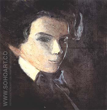 Self-Portrait, Facing Right 1904 - Egon Scheile reproduction oil painting