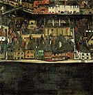 The Small City III - Egon Scheile reproduction oil painting