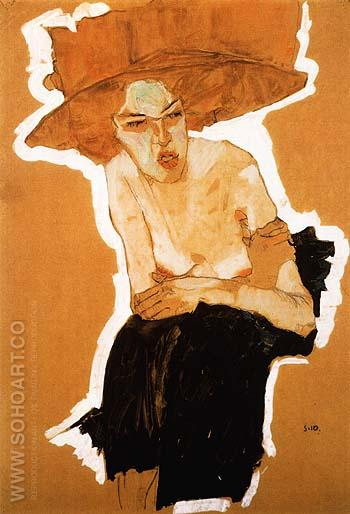 The scornful Woman (Gertrude Schiele) 1910 - Egon Scheile reproduction oil painting