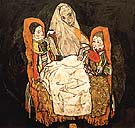 Mother with Two Children III 1917 - Egon Scheile reproduction oil painting