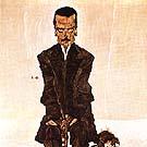 Portrait of the Publisher Eduard Kosmack 1910 - Egon Scheile reproduction oil painting