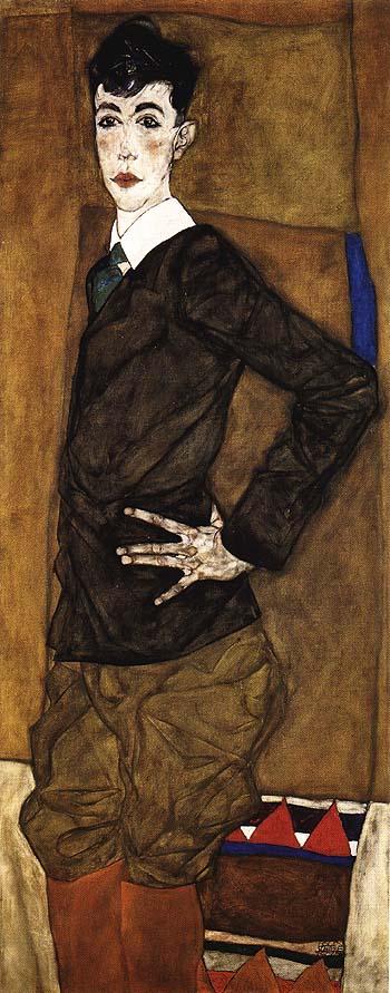Portrait of Erich Lederer, 1912 - Egon Scheile reproduction oil painting