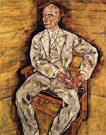 Portrait of Victor Ritter von Bauer 1918 - Egon Scheile reproduction oil painting