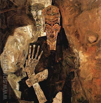 The Self-Seers II (Death and Man) 1911 - Egon Scheile reproduction oil painting