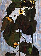 Sunflower I 1908 - Egon Scheile reproduction oil painting