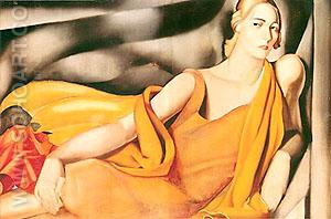 Lady in Yellow - Tamara de Lempicka reproduction oil painting