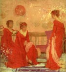 Harmony in Flesh Color and Red 1869 - James McNeill Whistler reproduction oil painting