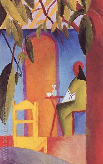 Turkish Cafe 2 - August Macke reproduction oil painting