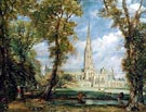 Salisbury Cathedral from the Bishop's Grounds 1825 - John Constable reproduction oil painting