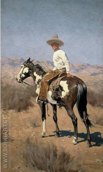 Vaquero 1890 - Frederic Remington reproduction oil painting