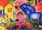 The Dream - Franz Marc reproduction oil painting