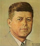 John F Kennedy - Fred Scraggs reproduction oil painting