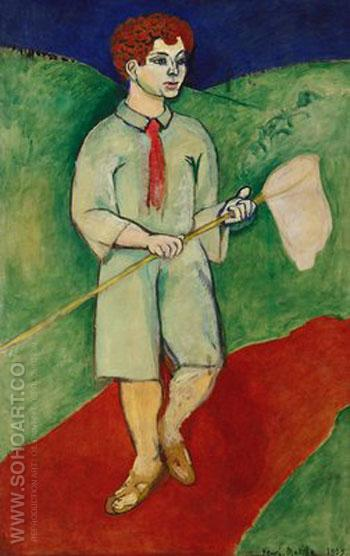 Boy with Butterfly Net 1907 - Henri Matisse reproduction oil painting