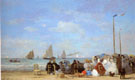 Beach Scene at Trouville 1863 - Eugene Boudin