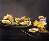 Oysters 1862 - Edouard Manet reproduction oil painting